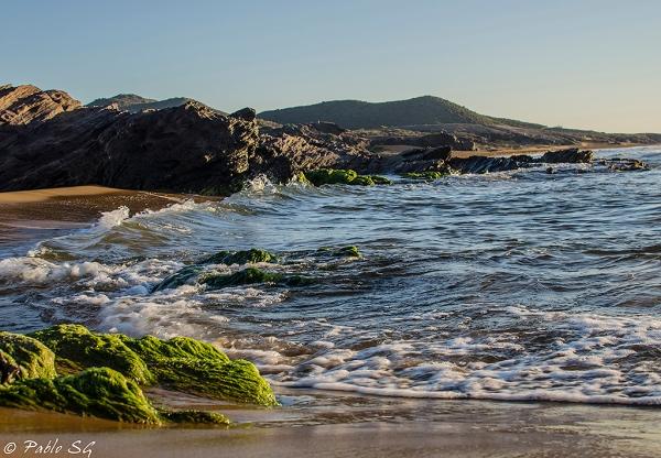 Amanecer en la playa de Calblanque