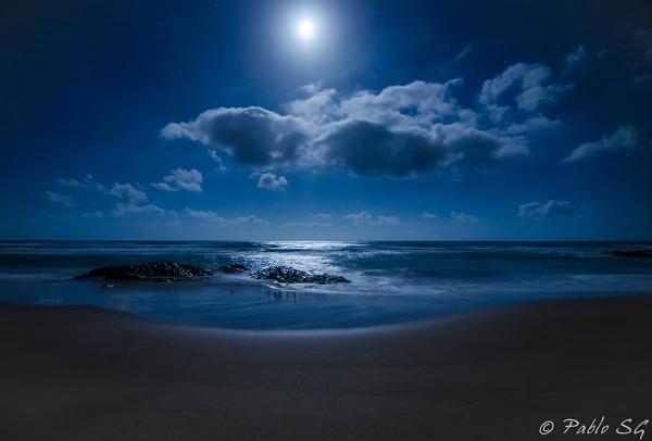 La noche sobre Calblanque